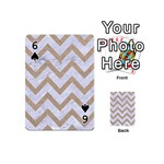 CHEVRON9 WHITE MARBLE & SAND (R) Playing Cards 54 (Mini)  Front - Spade6