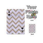CHEVRON9 WHITE MARBLE & SAND (R) Playing Cards 54 (Mini)  Front - ClubA