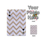 CHEVRON9 WHITE MARBLE & SAND (R) Playing Cards 54 (Mini)  Front - Spade9