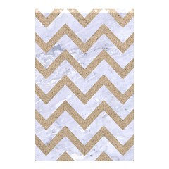 CHEVRON9 WHITE MARBLE & SAND (R) Shower Curtain 48  x 72  (Small)