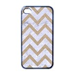 CHEVRON9 WHITE MARBLE & SAND (R) Apple iPhone 4 Case (Black) Front