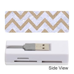CHEVRON9 WHITE MARBLE & SAND (R) Memory Card Reader (Stick)