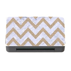 CHEVRON9 WHITE MARBLE & SAND (R) Memory Card Reader with CF