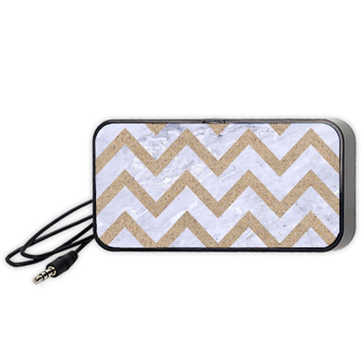 CHEVRON9 WHITE MARBLE & SAND (R) Portable Speaker