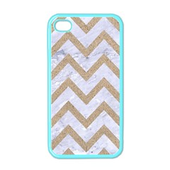 CHEVRON9 WHITE MARBLE & SAND (R) Apple iPhone 4 Case (Color)