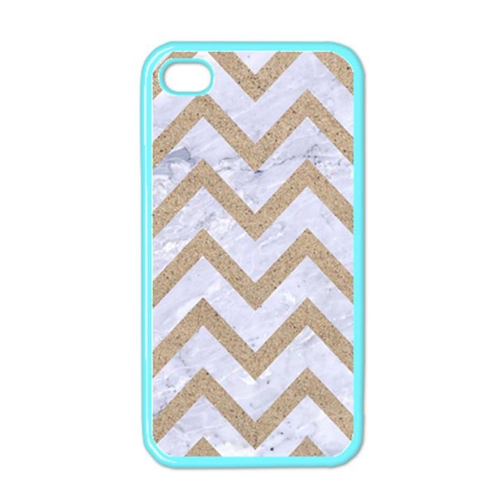 CHEVRON9 WHITE MARBLE & SAND (R) Apple iPhone 4 Case (Color)