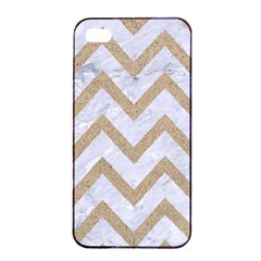 CHEVRON9 WHITE MARBLE & SAND (R) Apple iPhone 4/4s Seamless Case (Black)