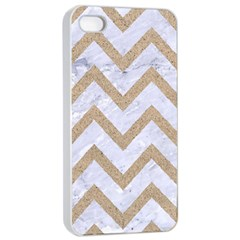 CHEVRON9 WHITE MARBLE & SAND (R) Apple iPhone 4/4s Seamless Case (White)