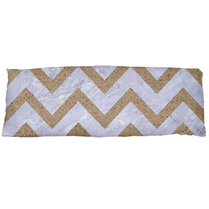 CHEVRON9 WHITE MARBLE & SAND (R) Body Pillow Case (Dakimakura)