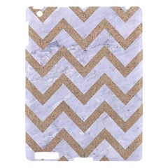 CHEVRON9 WHITE MARBLE & SAND (R) Apple iPad 3/4 Hardshell Case