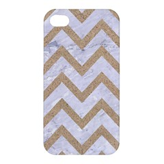CHEVRON9 WHITE MARBLE & SAND (R) Apple iPhone 4/4S Premium Hardshell Case