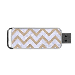 CHEVRON9 WHITE MARBLE & SAND (R) Portable USB Flash (One Side)