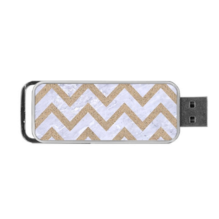 CHEVRON9 WHITE MARBLE & SAND (R) Portable USB Flash (One Side)