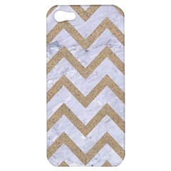 CHEVRON9 WHITE MARBLE & SAND (R) Apple iPhone 5 Hardshell Case