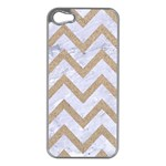 CHEVRON9 WHITE MARBLE & SAND (R) Apple iPhone 5 Case (Silver) Front