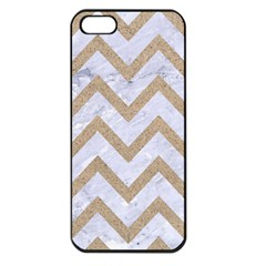 Chevron9 White Marble & Sand (r) Apple Iphone 5 Seamless Case (black) by trendistuff
