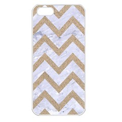 CHEVRON9 WHITE MARBLE & SAND (R) Apple iPhone 5 Seamless Case (White)