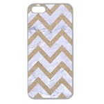 CHEVRON9 WHITE MARBLE & SAND (R) Apple Seamless iPhone 5 Case (Clear) Front