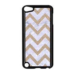 CHEVRON9 WHITE MARBLE & SAND (R) Apple iPod Touch 5 Case (Black)