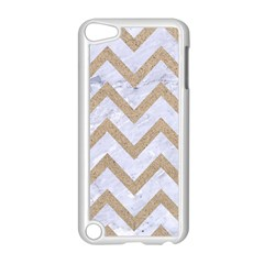 CHEVRON9 WHITE MARBLE & SAND (R) Apple iPod Touch 5 Case (White)