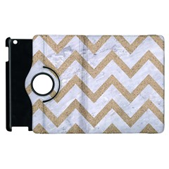 CHEVRON9 WHITE MARBLE & SAND (R) Apple iPad 2 Flip 360 Case