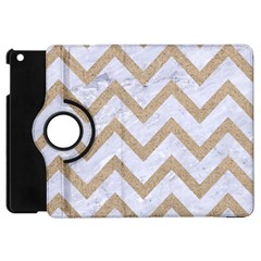 CHEVRON9 WHITE MARBLE & SAND (R) Apple iPad Mini Flip 360 Case