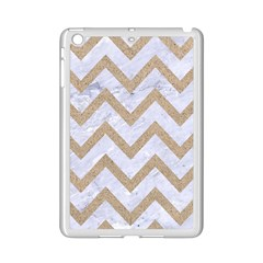 CHEVRON9 WHITE MARBLE & SAND (R) iPad Mini 2 Enamel Coated Cases