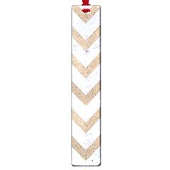 CHEVRON9 WHITE MARBLE & SAND (R) Large Book Marks