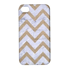 CHEVRON9 WHITE MARBLE & SAND (R) Apple iPhone 4/4S Hardshell Case with Stand