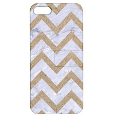 CHEVRON9 WHITE MARBLE & SAND (R) Apple iPhone 5 Hardshell Case with Stand