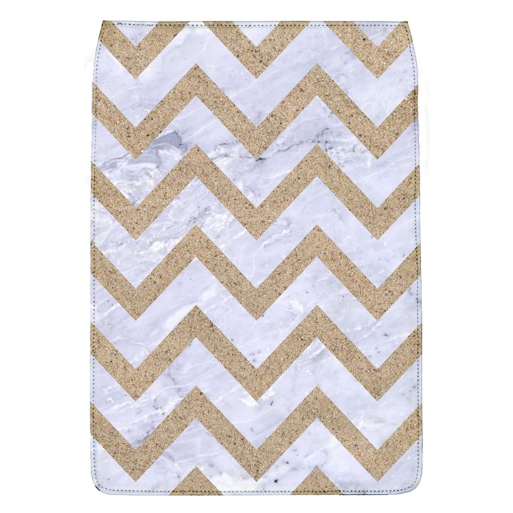 CHEVRON9 WHITE MARBLE & SAND (R) Flap Covers (L)