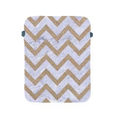 CHEVRON9 WHITE MARBLE & SAND (R) Apple iPad 2/3/4 Protective Soft Cases