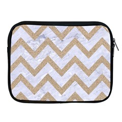 CHEVRON9 WHITE MARBLE & SAND (R) Apple iPad 2/3/4 Zipper Cases