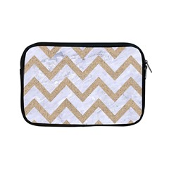 CHEVRON9 WHITE MARBLE & SAND (R) Apple iPad Mini Zipper Cases