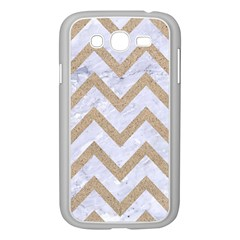 CHEVRON9 WHITE MARBLE & SAND (R) Samsung Galaxy Grand DUOS I9082 Case (White)