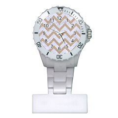 CHEVRON9 WHITE MARBLE & SAND (R) Plastic Nurses Watch