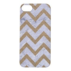 CHEVRON9 WHITE MARBLE & SAND (R) Apple iPhone 5S/ SE Hardshell Case
