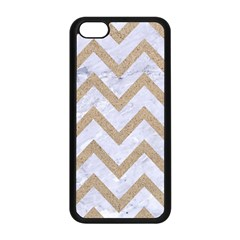CHEVRON9 WHITE MARBLE & SAND (R) Apple iPhone 5C Seamless Case (Black)