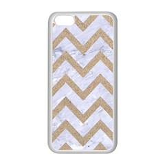 CHEVRON9 WHITE MARBLE & SAND (R) Apple iPhone 5C Seamless Case (White)