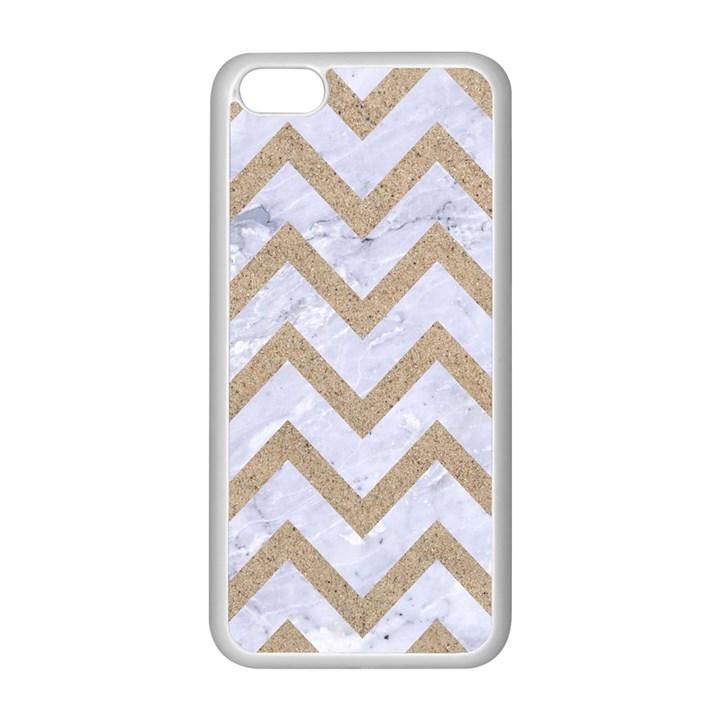CHEVRON9 WHITE MARBLE & SAND (R) Apple iPhone 5C Seamless Case (White)