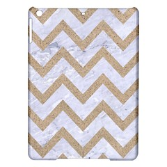CHEVRON9 WHITE MARBLE & SAND (R) iPad Air Hardshell Cases