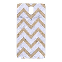 CHEVRON9 WHITE MARBLE & SAND (R) Samsung Galaxy Note 3 N9005 Hardshell Back Case