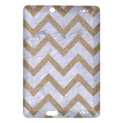 CHEVRON9 WHITE MARBLE & SAND (R) Amazon Kindle Fire HD (2013) Hardshell Case