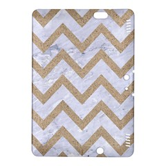 CHEVRON9 WHITE MARBLE & SAND (R) Kindle Fire HDX 8.9  Hardshell Case
