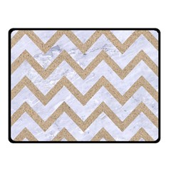 CHEVRON9 WHITE MARBLE & SAND (R) Double Sided Fleece Blanket (Small)