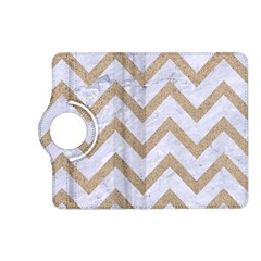 CHEVRON9 WHITE MARBLE & SAND (R) Kindle Fire HD (2013) Flip 360 Case