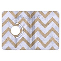 CHEVRON9 WHITE MARBLE & SAND (R) Kindle Fire HDX Flip 360 Case