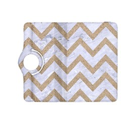 CHEVRON9 WHITE MARBLE & SAND (R) Kindle Fire HDX 8.9  Flip 360 Case