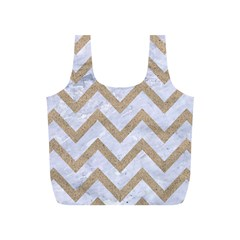 CHEVRON9 WHITE MARBLE & SAND (R) Full Print Recycle Bags (S)