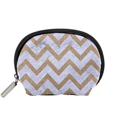 CHEVRON9 WHITE MARBLE & SAND (R) Accessory Pouches (Small)